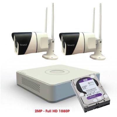 Trọn Bộ 2 Camera IP Wifi 2MP Full HD