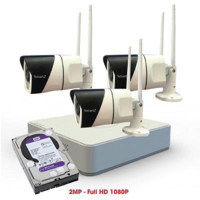 Trọn Bộ 3 Camera IP Wifi 2MP Full HD