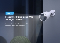4MP Dual -Band WiFi (2.4GHz & 5GHz) Spotlight Camera Chống nước Ngoài trời Không dây 2 Chiều Phát hiện Chuyển động Âm th